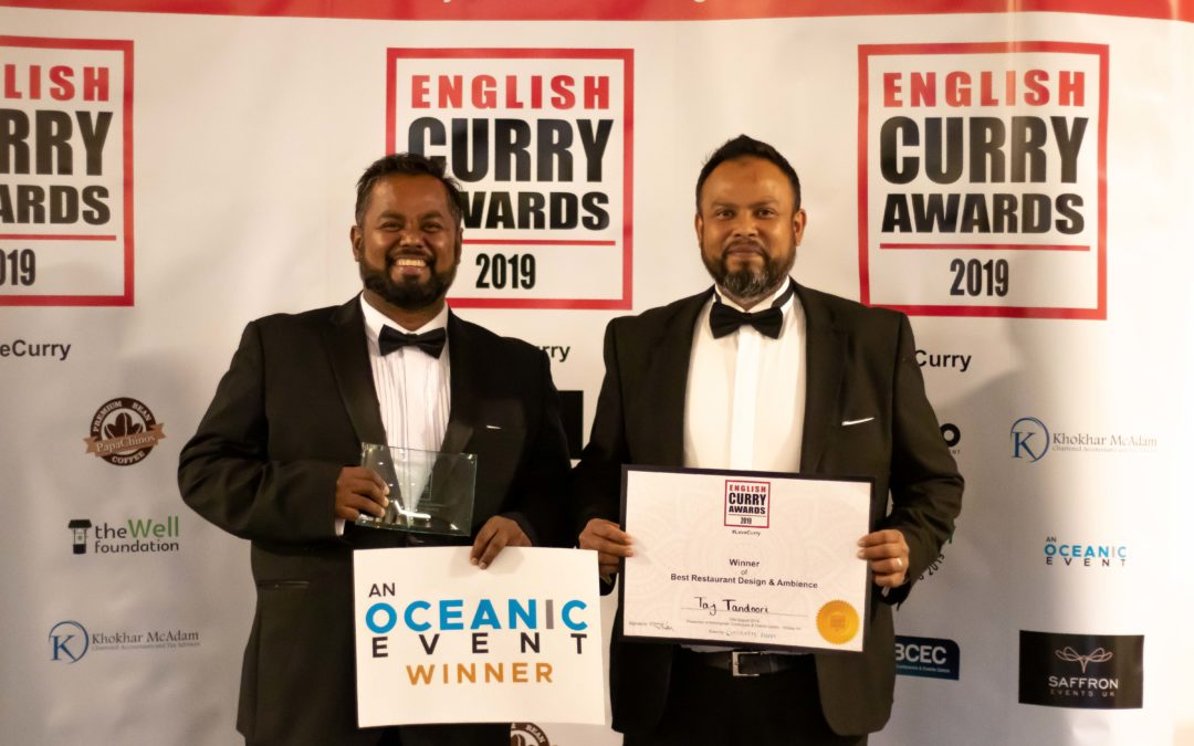 Taj Tandoori Wins Award