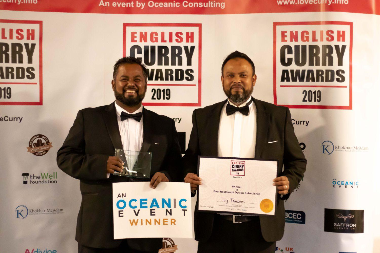 Taj Tandoori Wins Award